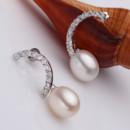 Beautiful White 9 - 9.5mm Freshwater Drop Pearl Earring Set