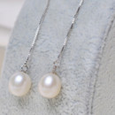 Gorgeous White/ Pink/ Purple 7-8mm Off-Round Pearl Earring Set