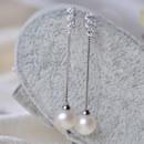 Beautiful Pink/ White Round/ Drop Freshwater Natural Pearl Earring Set