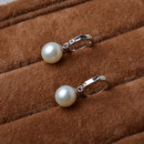 Affordable Beautiful White 8.5-9mm Round Freshwater Natural Pearl Earring Set