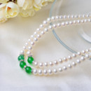 Red/ Green 7 - 8mm Freshwater Off-Round Pearl Necklaces