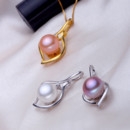 Lovely Purple/ White/ Pink Off-Round Freshwater Natural Pearl Pendants