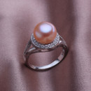 Affordable Beautiful Pink 10.5 - 11mm Freshwater Off-Round Pearl Ring