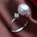 Affordable Pink/ White/ Orange 9 - 10mm Freshwater Off-Round Pearl Ring