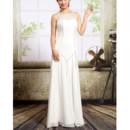 Designer Chic Chiffon Sheath Floor Length Wedding Dress
