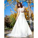 Discount Vintage Satin A-Line Strapless Sweep Train Wedding Dress