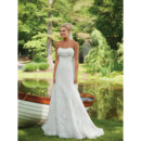 Modern Elegant Sweetheart Chapel Train Satin Organza Spring Wedding Dress