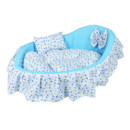 Blue Cozy Washable Pet Bed Dog Cat Puppy Soft Sleeping Bed 3 Sizes