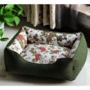 Inexpensive Soft & Cozy Green Printed Washable Pet Mat Dog Cat Puppy Bed 5 Sizes