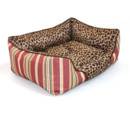 Blue Soft & Cozy Washable Pet Mat Dog Cat Bed In Leopard Print 4 Sizes