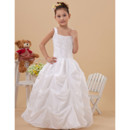 2015 Style Ball Gown Pick-Up Skirt Taffeta First Communion Dress