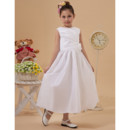 Taffeta Tea Length First Holy Communion Dress