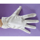Short Wrist Elastic Satin Flower Girl/ First Communion Gloves wi