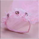 Pretty 1 Layer Pink Tulle Flower Girl Veils