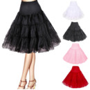 Women's Candy Color Organza Knee Length Wedding Petticoat/ Skirts