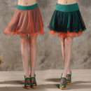 Rainbow Multi-Colored Organza Mini Skirts/ Wedding Petticoat