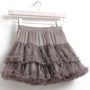 Girls' Tulle Mini Skirts with Beads and Ruffle