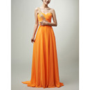Womens Custom One Shoulder Floor Length Chiffon Prom Evening Dress