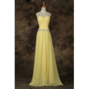 Affordable Classy Floor Length Long Chiffon Prom Evening Dress with Straps