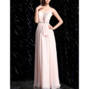 Elegant Sweetheart Floor Length Chiffon Formal Evening Dress with Bows