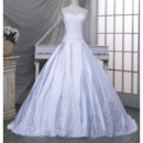 Classic Ball Gown Sweetheart Chapel Train Taffeta Wedding Dress