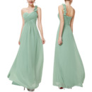 Amazing One Shoulder Sweetheart Long Chiffon Bridesmaid Dress