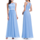 Custom Floor Length Chiffon Bridesmaid/ Wedding Party Dress