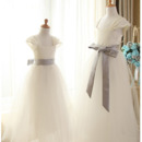 2018 Lovely Satin Flower Girl/ First Communion Dress with Sashes