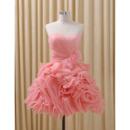 Pretty Sweetheart Short Organza Ruffle Skirt Homecoming Dress