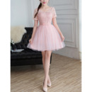 2018 New Style Mini/ Short Bridesmaid Dress with Short Sleeves