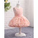 Discount Adorable Sleeveless Knee Length Infant Baby Girl Dresses with Applique