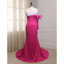 Custom Asymmetric Floor Length Evening Dress with One Sleeve
