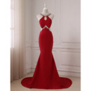 Custom Mermaid Floor Length Satin Evening/ Prom/ Formal Dress