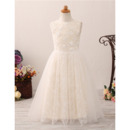Adorable A-Line Floor Length Lace Flower Girl Dress for Wedding