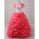 Custom Ball Gown Sweetheart Long Prom/ Quinceanera Dress with Jacket