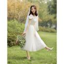 Custom A-Line Off-the-shoulder Sweetheart Tea Length Wedding Dress