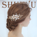 Alloy with Rhinestone Pearl Wedding Headpieces/ Fascinators for Brides