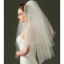 Charming 2 Layers Elbow-Length Tulle White Wedding Veils