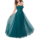 Inexpensive A-Line Sweetheart Floor Length Chiffon Bridesmaid Dress