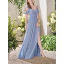 2020 Style Straps Floor Length Chiffon Bridesmaid/ Evening Dress
