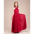 Custom Long Chiffon Junior Bridesmaid Dress